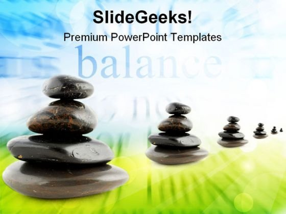 Stones Balance Business PowerPoint Themes And PowerPoint Slides 0511