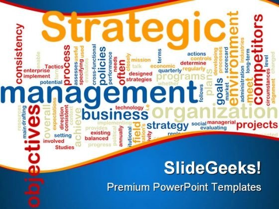 Strategic Management Business PowerPoint Template 0810