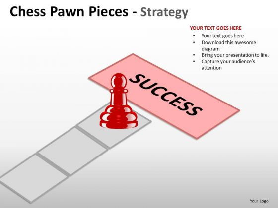 Strategic Management Chess Pawn Pieces Strategy Business Diagram