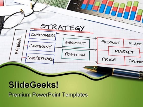 Strategy Business PowerPoint Background And Template 1210