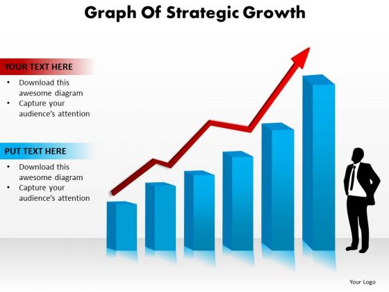 Strategy Diagram Graph Of Strategic Growth Business Cycle Diagram