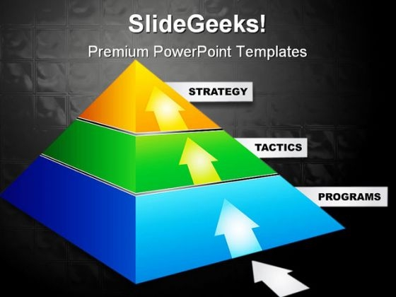 Strategy Pyramid Business PowerPoint Templates And PowerPoint Backgrounds 0211