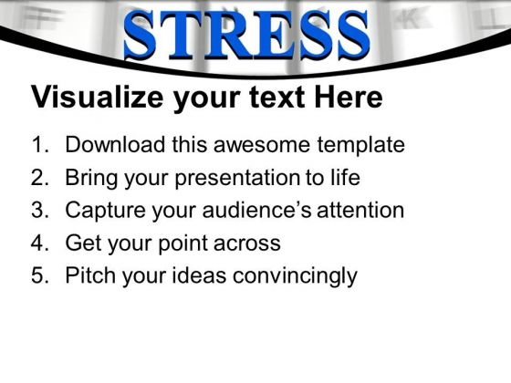 Stress Word On Computer Keyword PowerPoint Templates Ppt