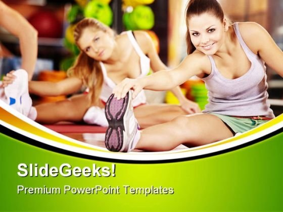 Stretching Exercise Health PowerPoint Templates And PowerPoint Backgrounds 0611