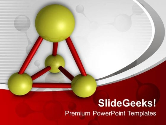 Structure Of Molecules Science Theme PowerPoint Templates Ppt Backgrounds For Slides 0513