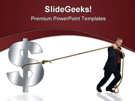 Struggle With Dollar Business PowerPoint Template 0810