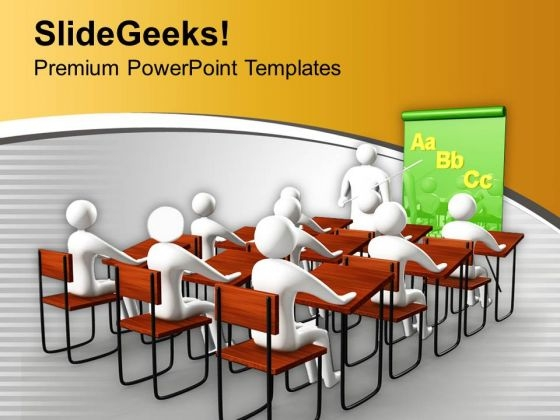 Students In Classroom Education PowerPoint Templates Ppt Backgrounds For Slides 0213
