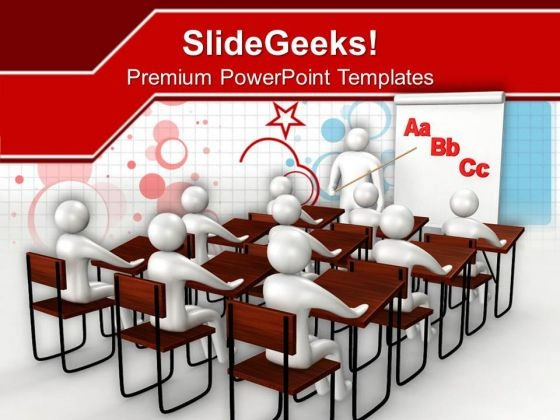 Students Learning Concept Of Education PowerPoint Templates Ppt Backgrounds For Slides 0113