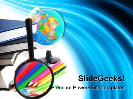 Study Education PowerPoint Template 1010