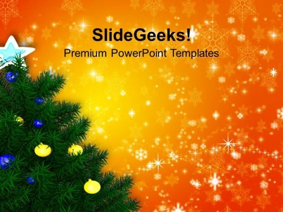 Stunning Christmas Tree Holidays PowerPoint Templates Ppt Backgrounds For Slides 1212