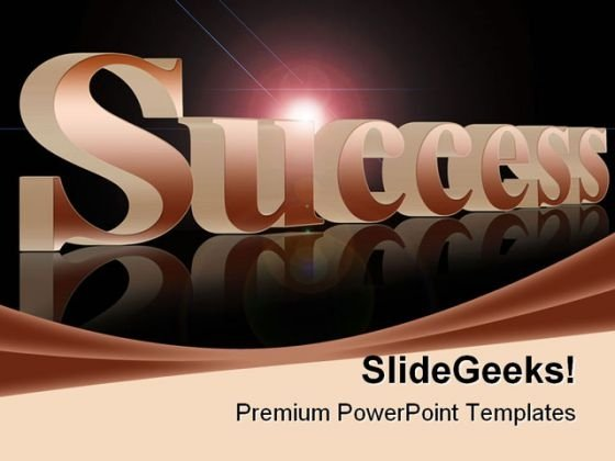 Success Abstract Business PowerPoint Template 1110