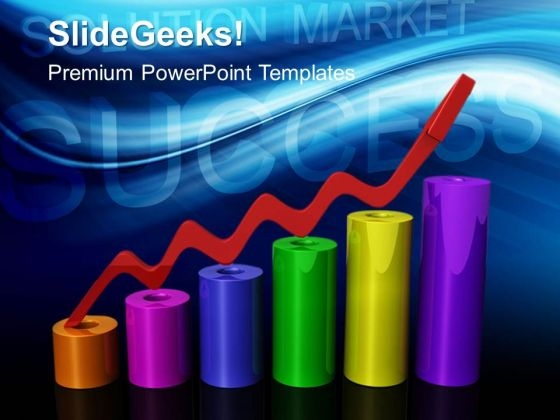 Success Bar Graph Marketing PowerPoint Templates And PowerPoint Themes 0412
