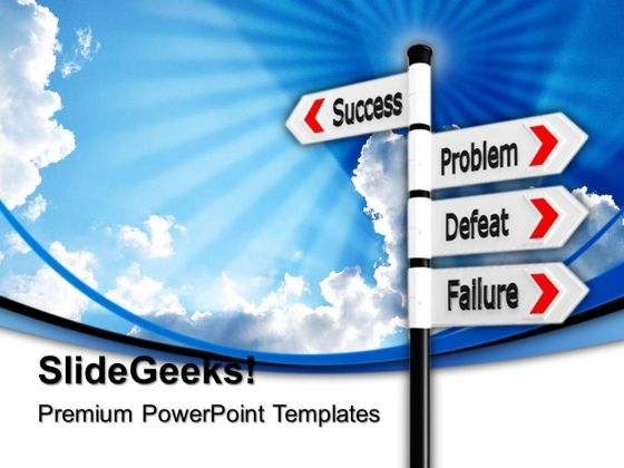 Success Failure Signpost Business PowerPoint Templates And PowerPoint Themes 0612