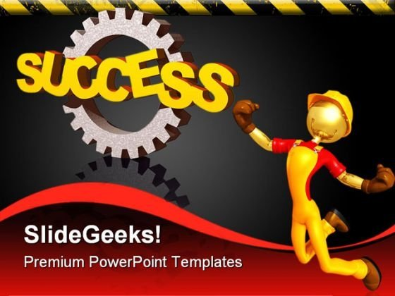 Success Gear Industrial PowerPoint Templates And PowerPoint Backgrounds 0811