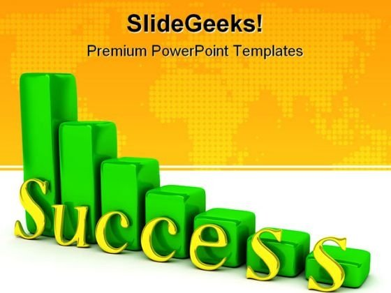 Success Graph Business PowerPoint Template 0910