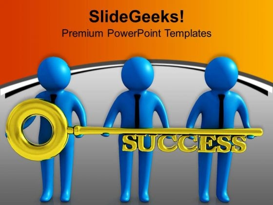 Success Key In Hands Of Team Members PowerPoint Templates Ppt Backgrounds For Slides 0713