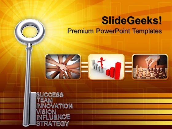 Success Key Security PowerPoint Templates And PowerPoint Themes 1012