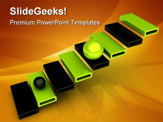 Success Ladder Business PowerPoint Themes And PowerPoint Slides 0511