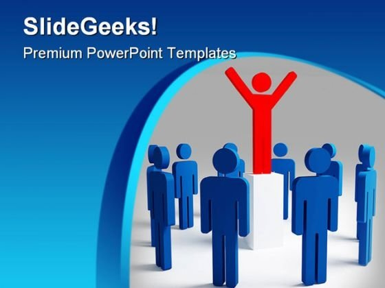 Success Leadership PowerPoint Themes And PowerPoint Slides 0611