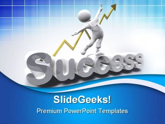 Success Man Business Powerpoint Templates And Powerpoint