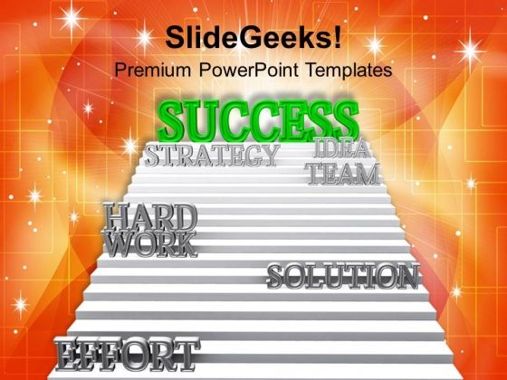 Success Path On Ladder PowerPoint Templates Ppt Backgrounds For Slides 0113