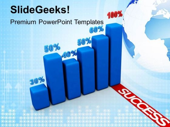 Success Percentage Graph Business PowerPoint Templates Ppt Backgrounds For Slides 1212