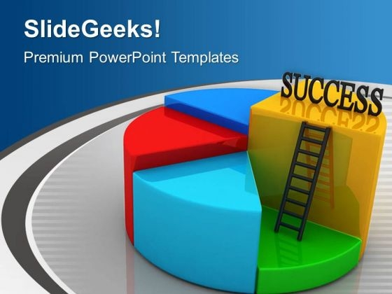 Success Pie Chart Business Concept PowerPoint Templates Ppt Backgrounds For Slides 0313