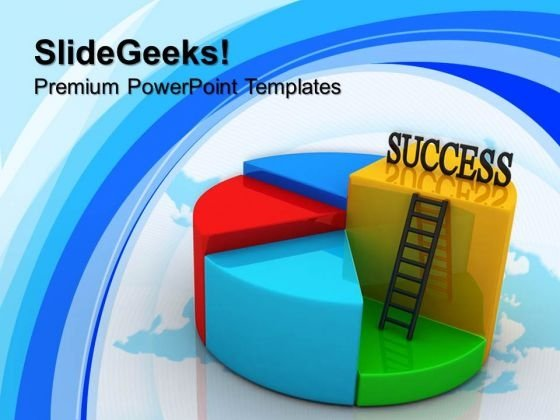 Success Pie Chart Concept Business PowerPoint Templates And PowerPoint Themes 1012