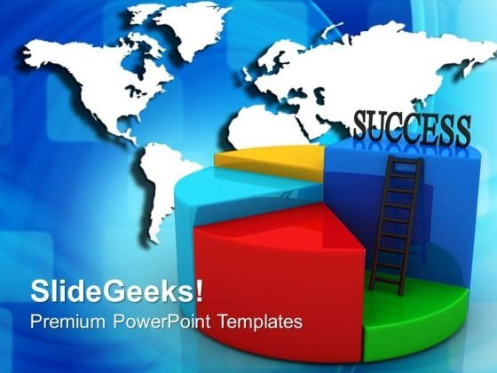 Success Pie Chart Concept Global PowerPoint Templates And PowerPoint Themes 0612