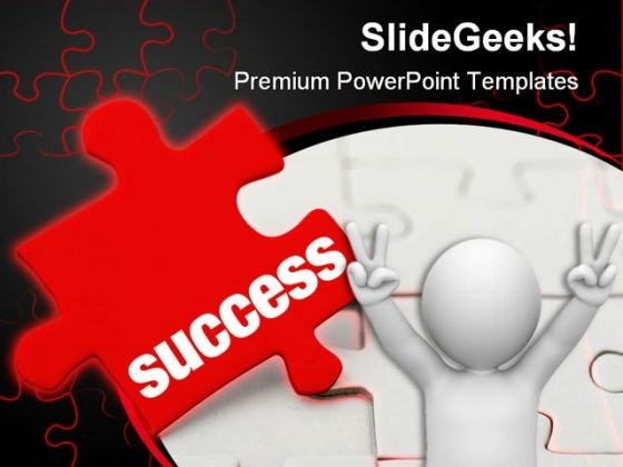 Success Puzzle PowerPoint Template 0510
