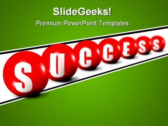 Success Spheres Shapes PowerPoint Themes And PowerPoint Slides 0611