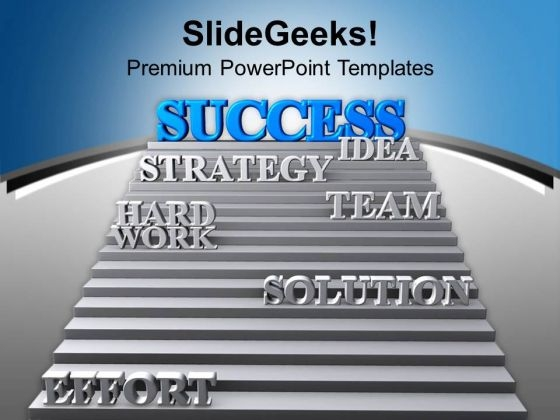 Success Strategy Team Effort Leads Solution PowerPoint Templates Ppt Backgrounds For Slides 0213