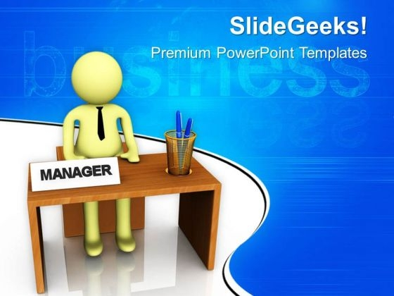 Successful Manager Business Concept PowerPoint Templates Ppt Backgrounds For Slides 0813