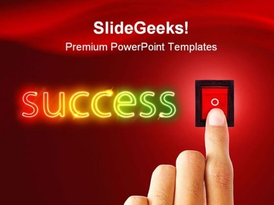 Suceess Button Business PowerPoint Template 1110