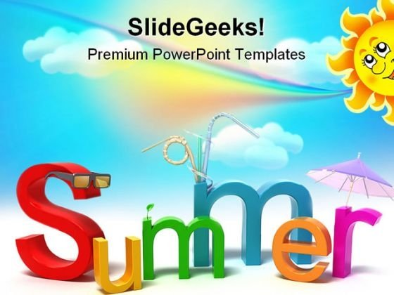 Summer Holidays PowerPoint Themes And PowerPoint Slides 0611