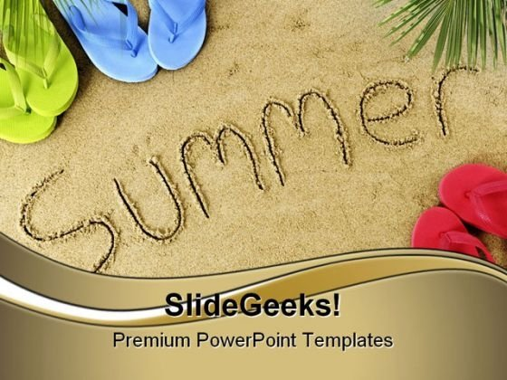 Summer Holidays PowerPoint Themes And PowerPoint Slides 0811