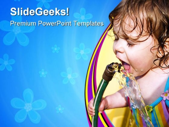 Summertime Drink Baby PowerPoint Templates And PowerPoint Backgrounds 0711