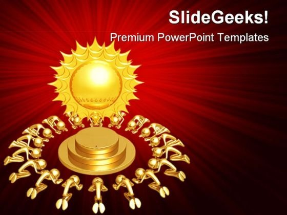 Sun Worship People Religion PowerPoint Backgrounds And Templates 1210