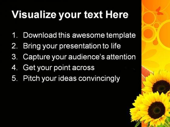 sunflower_abstract_beauty_powerpoint_template_0810_text