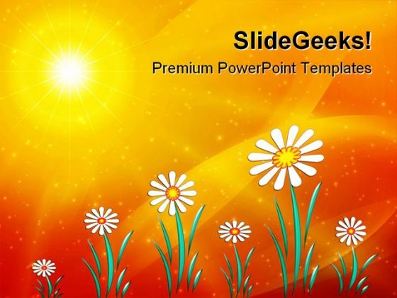 Sunny Floral Abstract PowerPoint Themes And PowerPoint Slides 0511