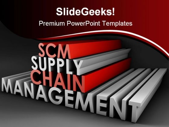 Supply Chain Management Business PowerPoint Template 1110