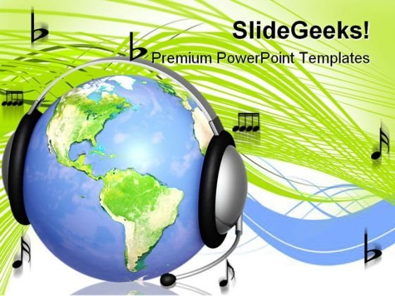 Support Music Global PowerPoint Templates And PowerPoint Backgrounds 0211