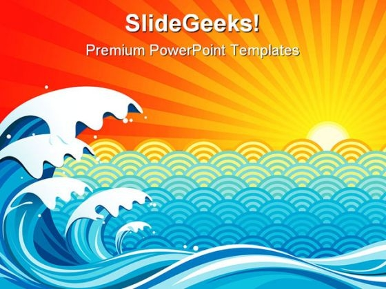 Surf Sun Background PowerPoint Themes And PowerPoint Slides 0511
