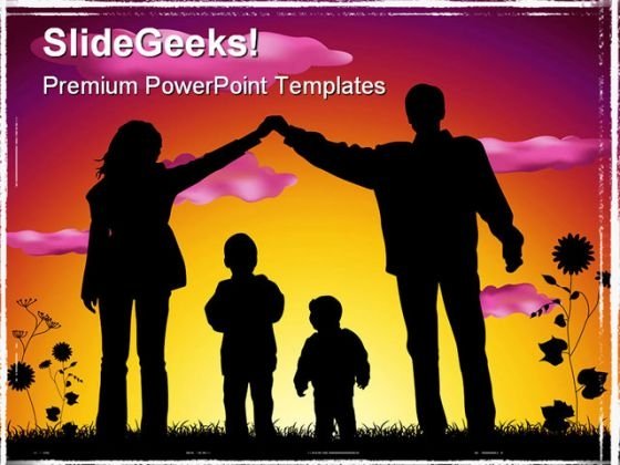Sweet Family People PowerPoint Template 1110