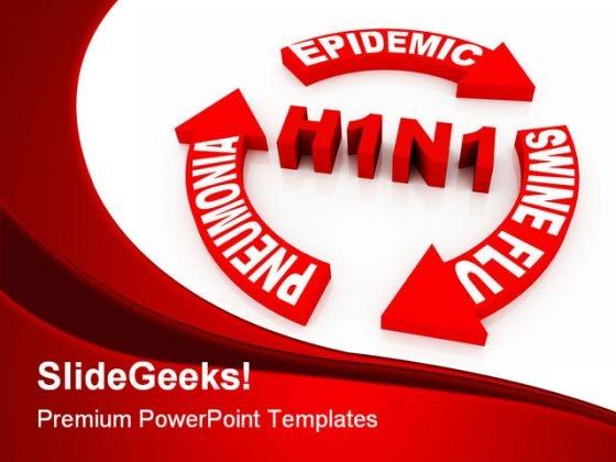 Swine Flu Concept Medical PowerPoint Template 1110