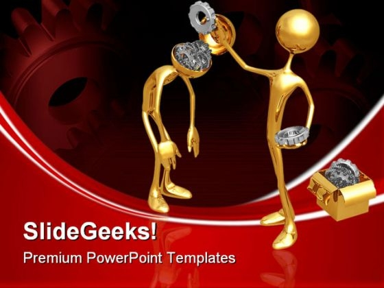 Switching Gears Industrial PowerPoint Themes And PowerPoint Slides 0611
