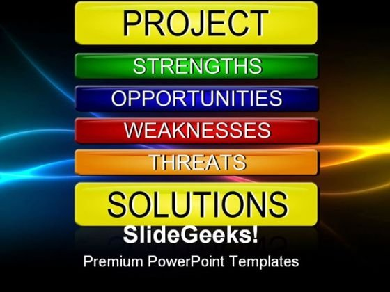 Swot Analysis Business PowerPoint Templates And PowerPoint Backgrounds 0811