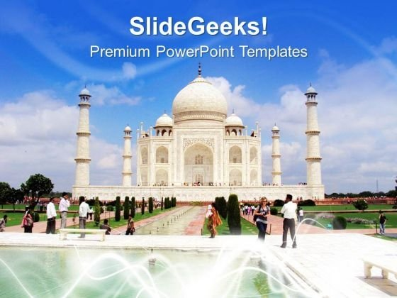 Tajmahal Is The Eight Wonder Of World PowerPoint Templates Ppt Backgrounds For Slides 0613