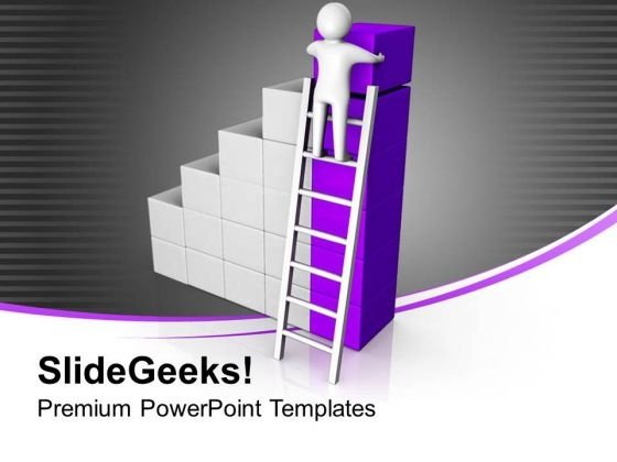 Take Ladder Of Success And Reach On Top PowerPoint Templates Ppt Backgrounds For Slides 0613