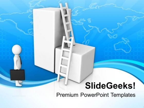 Take The Right Ladder Of Success PowerPoint Templates Ppt Backgrounds For Slides 0713